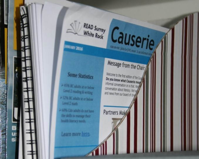 Causerie - Monthly newsletter to Surrey, White Rock British Columbia