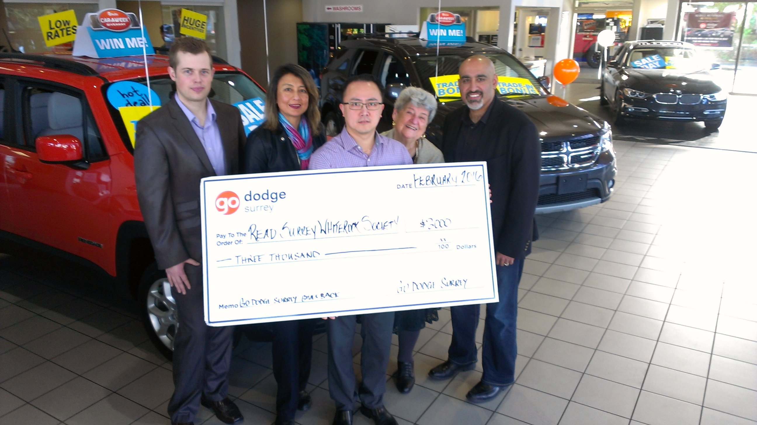 Go Dodge Surrey Community Donation