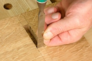 Square the end of a through mortise