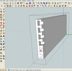 half blind dovetail is easy in SketchUp