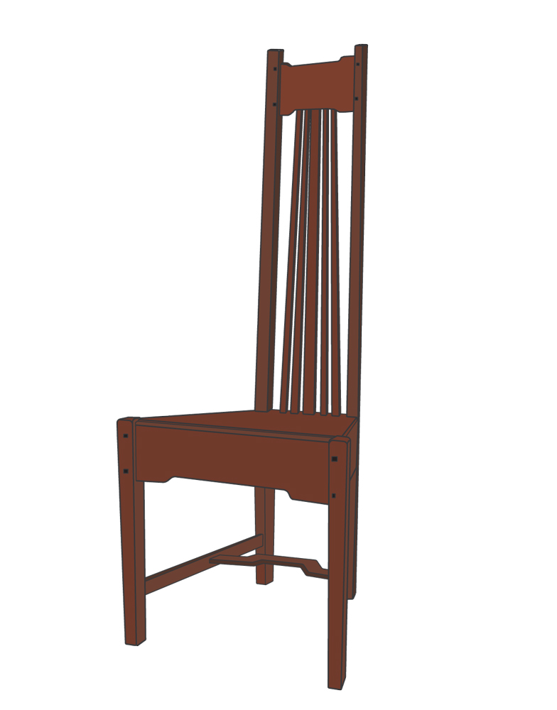 Amazing High Backed Chairs First Appeared In The Early 20th Century In The Designs  Of Charles Rennie Mackintosh And Frank Lloyd Wright.