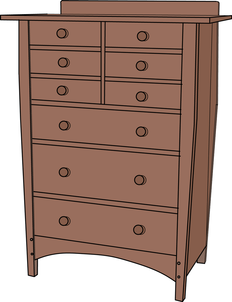 Gustav Stickley 913 9 drawer Dresser