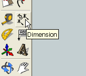 add dimensions with the dimension tool