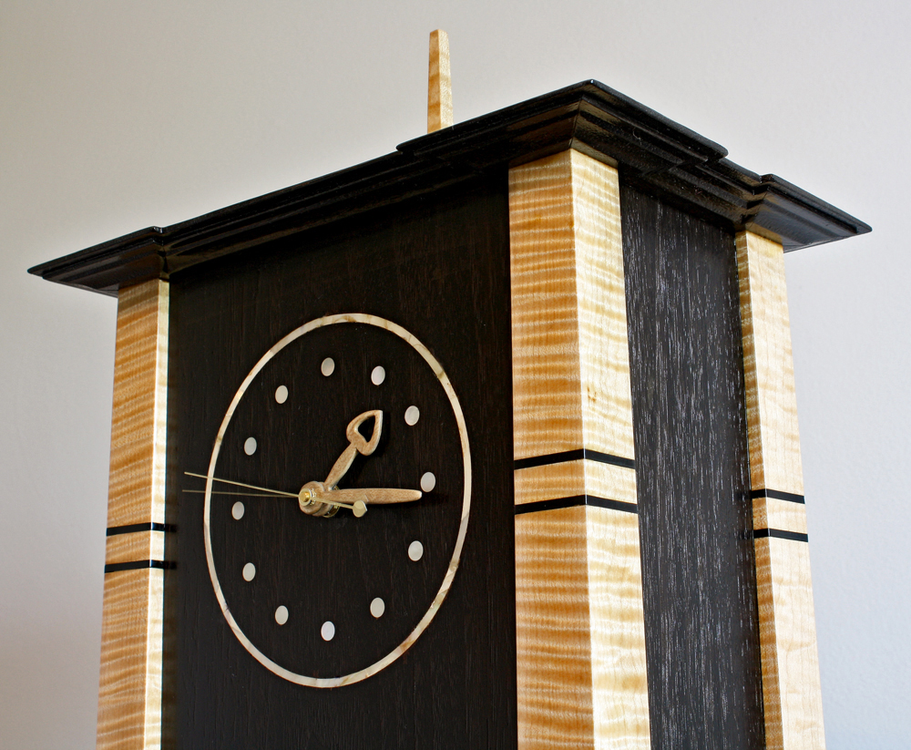 Arts and crafts mantle clock - If You Would Like To Build One Of These There Is A 2 Hour Video Of Me Making This One Available At This Link Build An Arts Crafts Mantel Clock