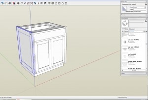Every piece that is a part in real life should be a component in the SketchUp model.