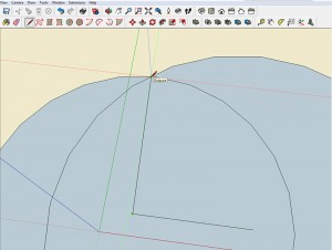 Pythagorean Theorem in SketchUp Step 3