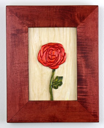 carved rose by Robert W. Lang