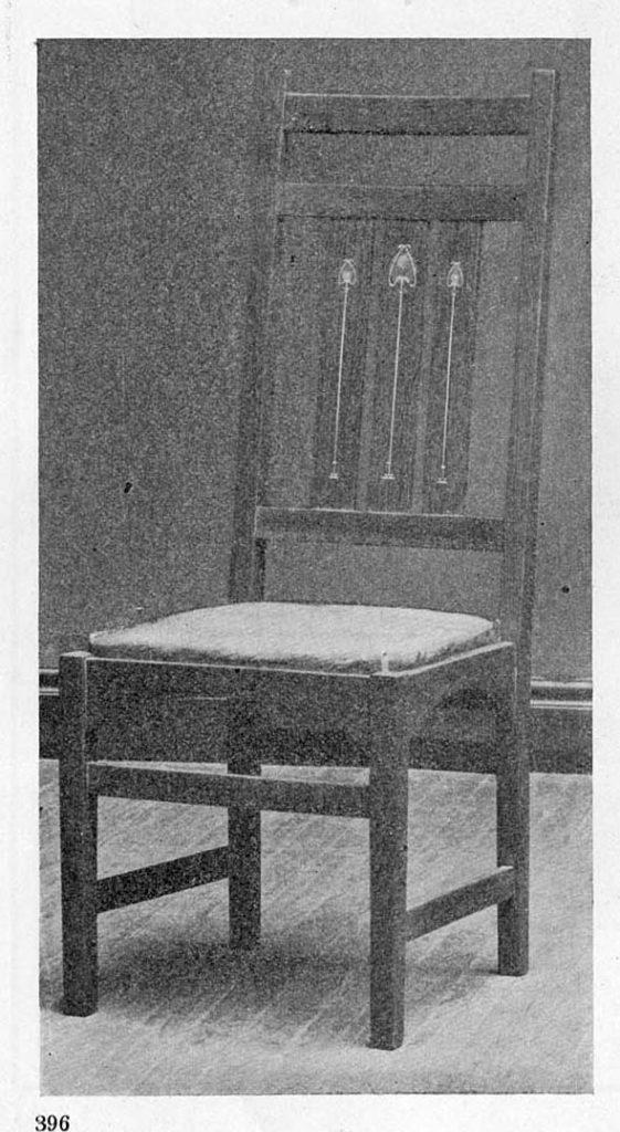 Harvey Ellis Chair from the Craftsman Magazine