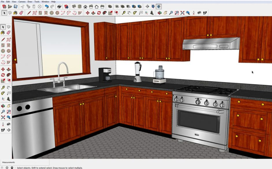 This screen shot is of the same model in SketchUp 2017. Click on image for a larger version.