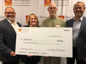 ReadWest Receives check from NM Gas Company