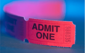 Photo of event ticket