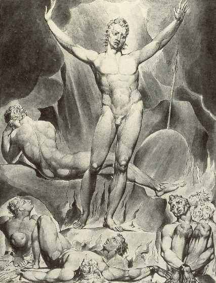 William Blake\'s Satan arousing the fallen angels