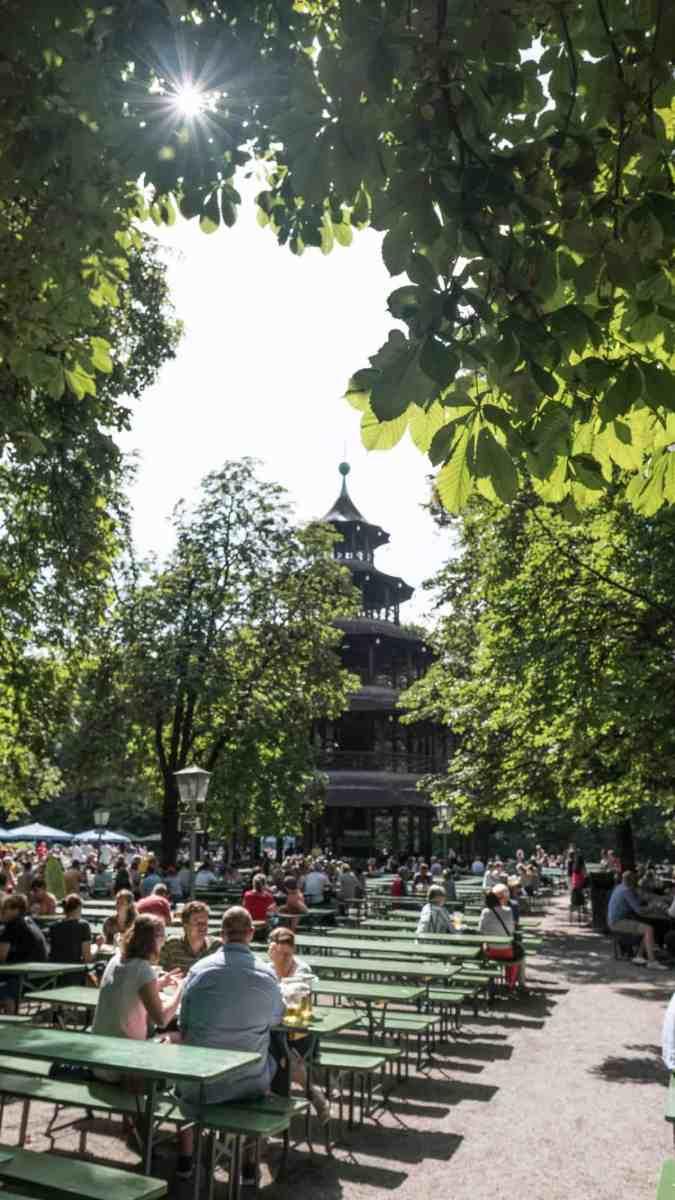 Best beer gardens in Munich: Chinese Tower