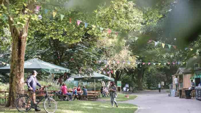 Best beer gardens in Munich: Beer garden im Nussbaumpark