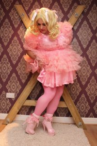 Kimberly Satin  Sissy Dress