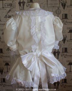 Sissy Dress Rosie Ivory Satin by Ready2Role JAN17-5