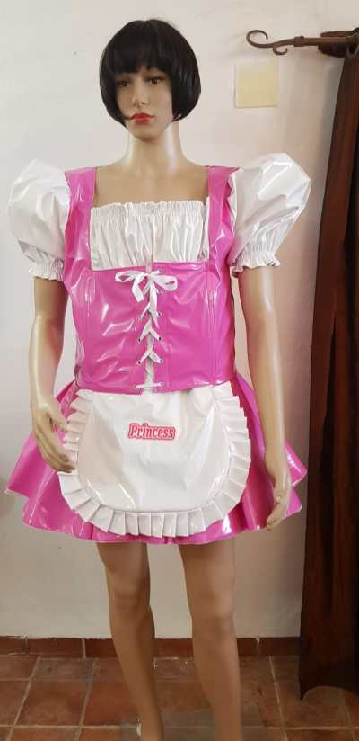 heidi sissy pvc dress