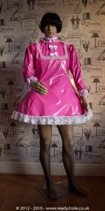 "The ""Fleur"" PVC Dress With Apron – Ask About Colour, Fabric and/or locking Options 2"