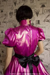 Nawty Shorty – Satin Dress with half apron 5