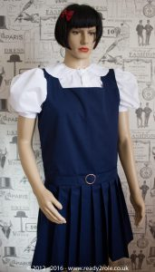 Adult School Uniform Dresses – Pinafore Style Knife Pleat Skirt 4