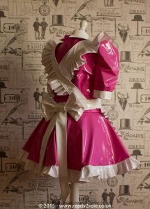 Alice Even More Sissy PVC Maid Dress With Full Apron – Pink & White Version 4