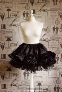Sissy Frilly Hand Crafted Petticoat (Black) – Above Knee Length 1