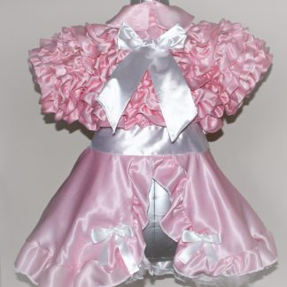 Bow Peek Sissy Ruffle Dress – Pink Version 0 1