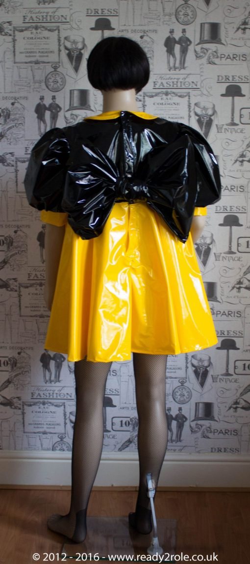 "The ""Bow Kay"" Sissy Dress in PVC – Ask About Colour Options 5"