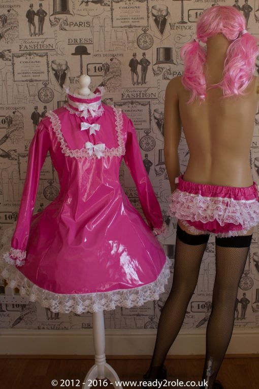 """The """"Fleur"""" PVC Dress With Apron – Ask About Colour, Fabric and/or locking Options 5"""