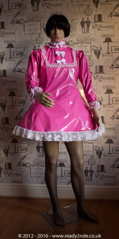 """The """"Fleur"""" PVC Dress With Apron – Ask About Colour, Fabric and/or locking Options 2"""