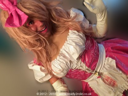 """The """"Heidi"""" Sissy Maid PVC Dress – Ask About Colour Choices – Hand Made to Any Size 3"""