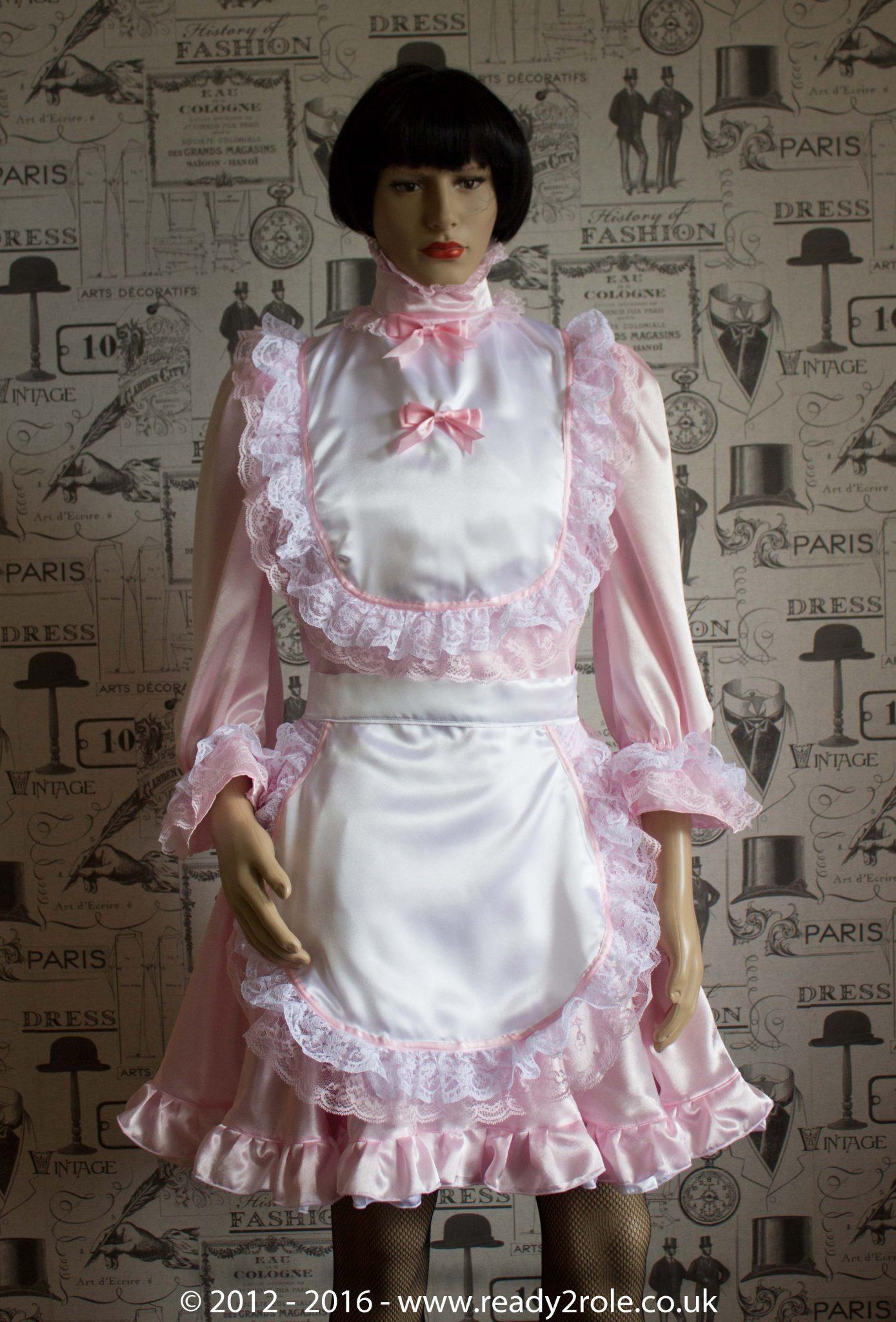 Hi Neck Frilly Sissy Dress (Long Sleeved)