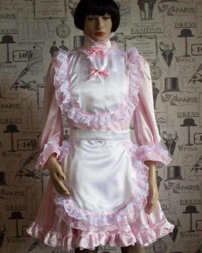 Hi Neck Frilly Sissy Dress (Long Sleeved) 1