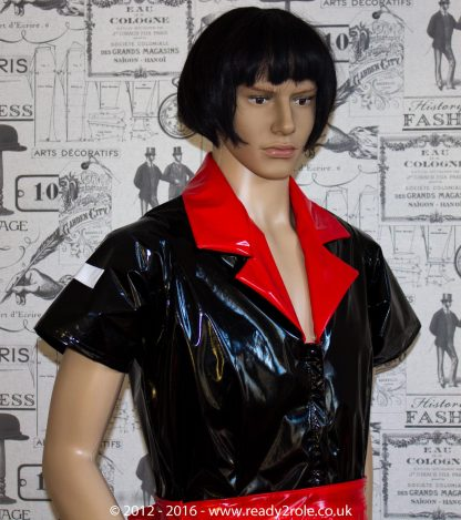 Tulsa PVC Nurse Dress – Made Here in Black & Red – Ask About Other Colour Options 2