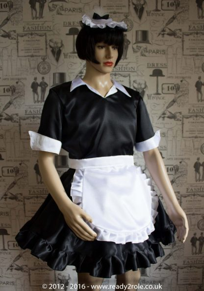"""""""Magenta"""" Sissy Maids Dress in Satin – ask about colour and fabric options 4"""