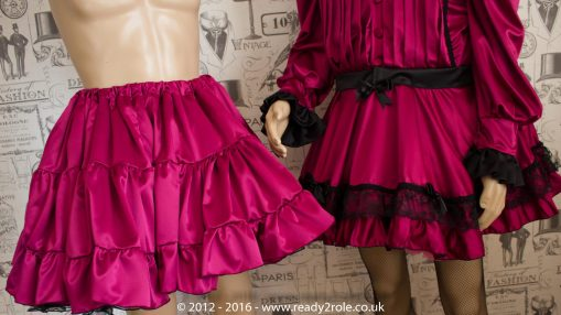 Sissy Frilly Hand Crafted Petticoat (Burgundy) – Above Knee Length 3