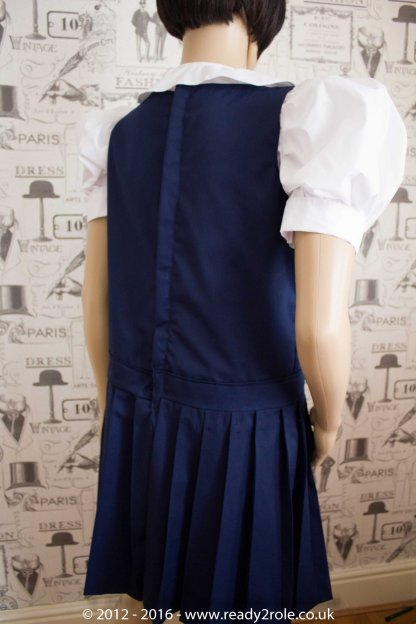 Adult School Uniform Dresses – Pinafore Style Knife Pleat Skirt 2
