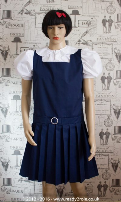 Adult School Uniform Dresses – Pinafore Style Knife Pleat Skirt 1