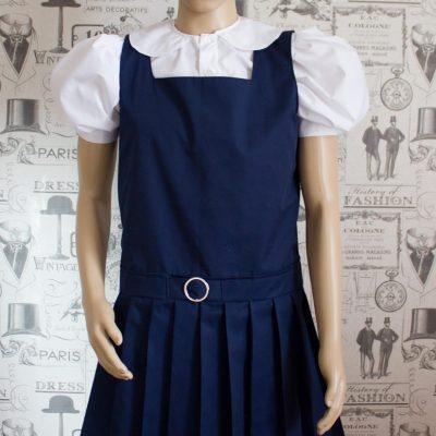 Adult School Uniform Dresses – Pinafore Style Knife Pleat Skirt 1