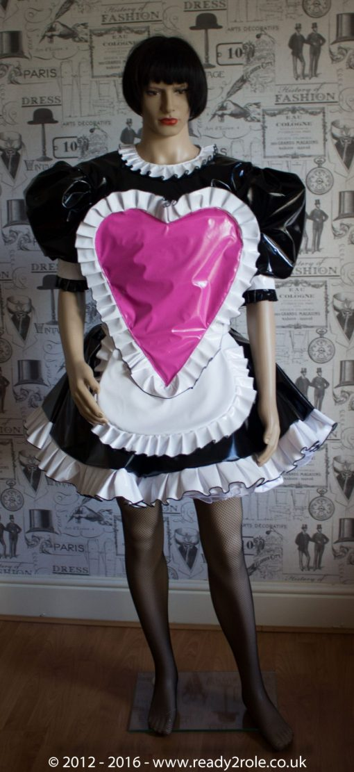 """The """"Sweetheart"""" Sissy Dress With Interchangeable Apron Sections 3"""