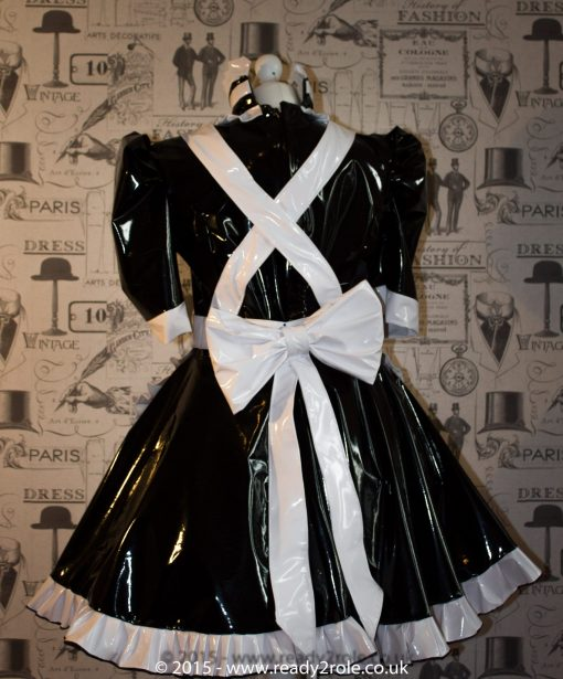 Hi Alice More PVC Maids Dress With Full Apron 2