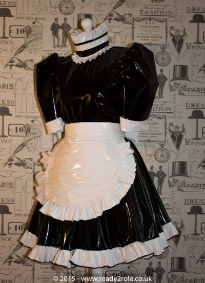 Hi Alice PVC Maids Dress With Half Apron 1