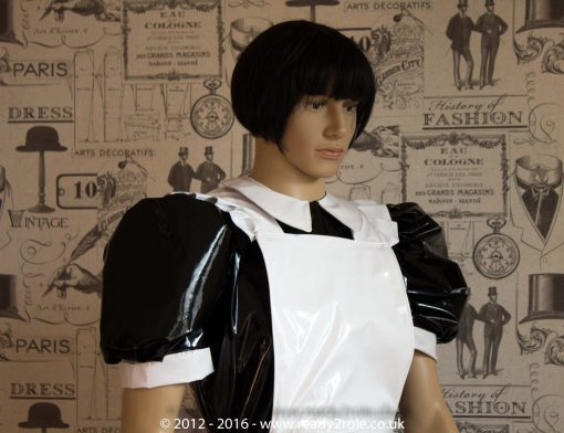 Alice Even More Sissy PVC Maid Dress With Full Apron – Black & White Version – Ask About Colours 2