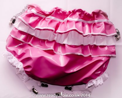 Sissy PVC Panties With Suspender Clips 2
