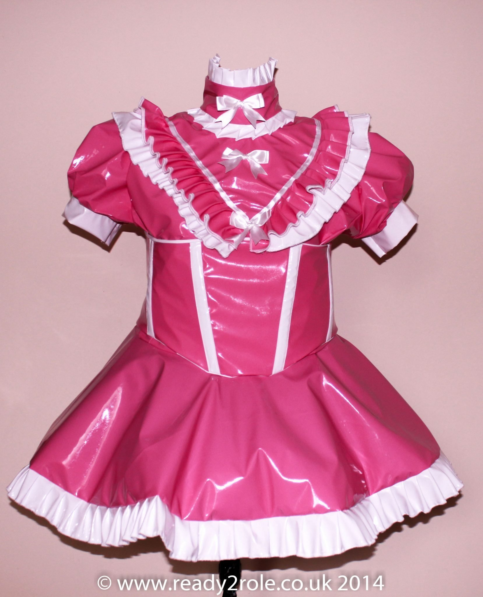 Sissy Candy Cupcake (Pink) PVC Dress With Boned Corset