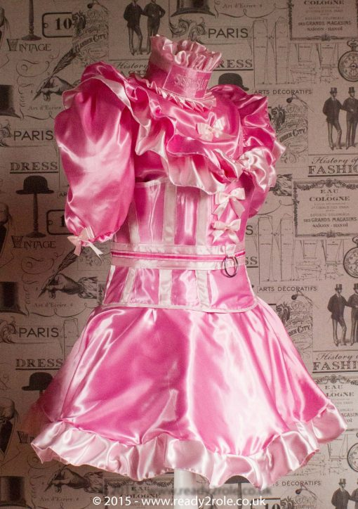 Candy Cupcake Corseted Sissy Satin Dress 3