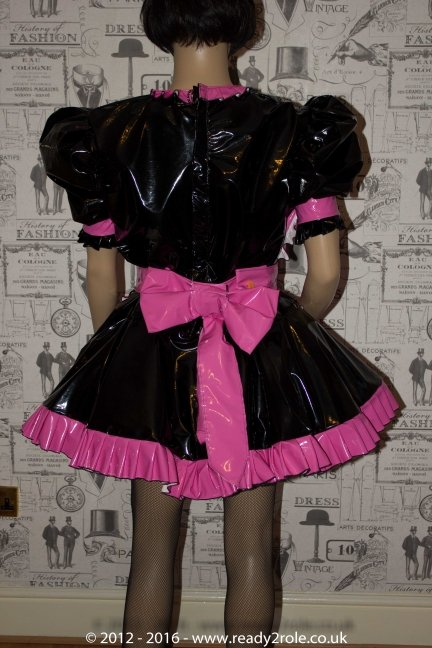 Sweetheart Sissy Black & Pink Version PVC Maids Dress – Hidden Attractive Qualities..