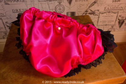 Nawty Shorty in Cerise Satin 4