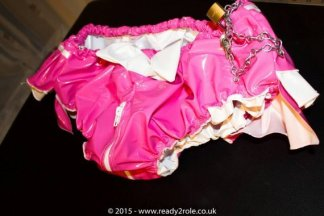 """Sissy AB PVC Panties """"The Aimi"""" Panties (With Zip thru crotch) – Plastic or Satin Lined – Lockable functions available 1"""