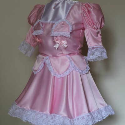 "Sissy Dress ""The Petal"" Lockable Sissy Dress with Hidden Secrets – Made to Measure and in a Colour of your Choice 1"